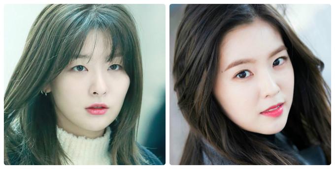 Khi Red Velvet debut, Seul Gi (trái) được giới thiệu với vai trò visual. Tuy nhiên, Irene lại nhận được nhiều lời khen của netizen, người hâm mộ nhờ khuôn mặt ''tỷ lệ vàng''. Cô nàng vừa là leader, vừa là người đại diện nhan sắc cho nhóm.