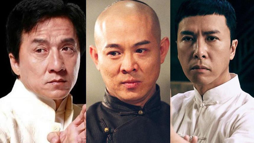 Thành Long, Lý Liên Kiệt, Chân Tử Đan là những ngôi sao võ thuật của làng điện ảnh Hoa ngữ.