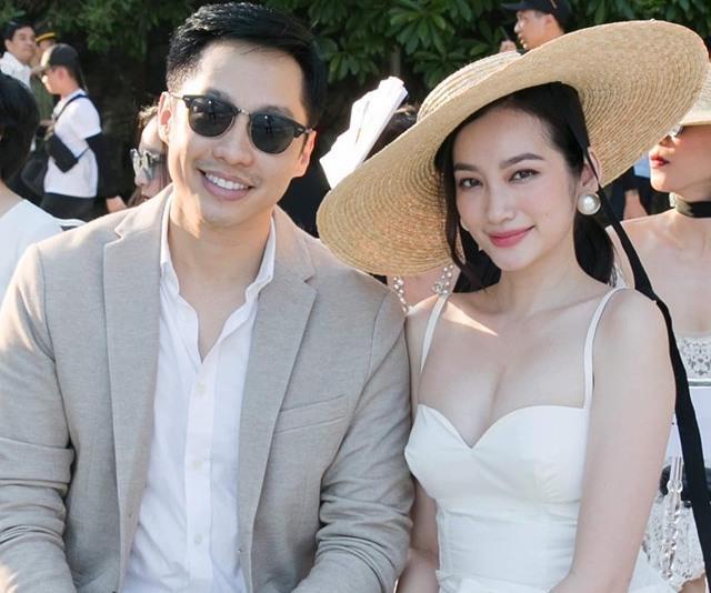 Trúc Diễm và chồng dự sự kiện thời trang mới đây.