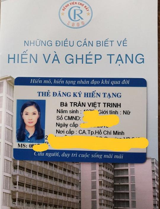 Việt Trinh kêu gọi mọi người cùng cô hiến tạng - Ảnh 2