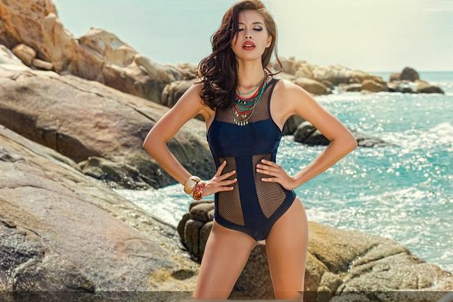 Những nàng da nâu mặc bikini chuẩn Tây của showbiz Việt - Ảnh 3