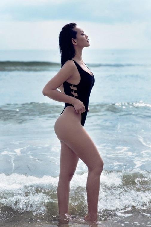 Những nàng da nâu mặc bikini chuẩn Tây của showbiz Việt - Ảnh 8