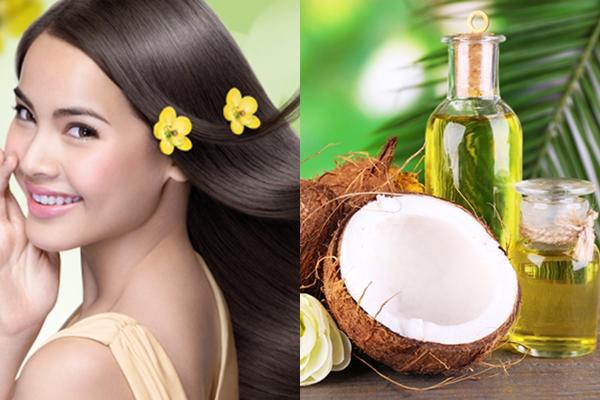 Dưỡng tóc thẳng mượt tự nhiên bằng dầu dừa