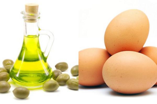 Kết hợp trứng gà và dầu oliu chăm sóc tóc đẹp tự nhiên