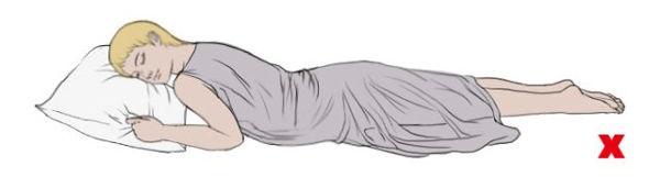 Các tư thế ngủ mẹ bầu nên tránh để không gây hại đến thai nhi - Ảnh 2