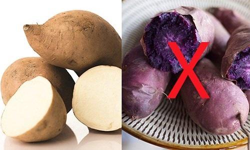 Muốn giảm cân bằng khoai lang, hãy lựa chọn khoai lang trắng để có hiệu quả tốt nhất