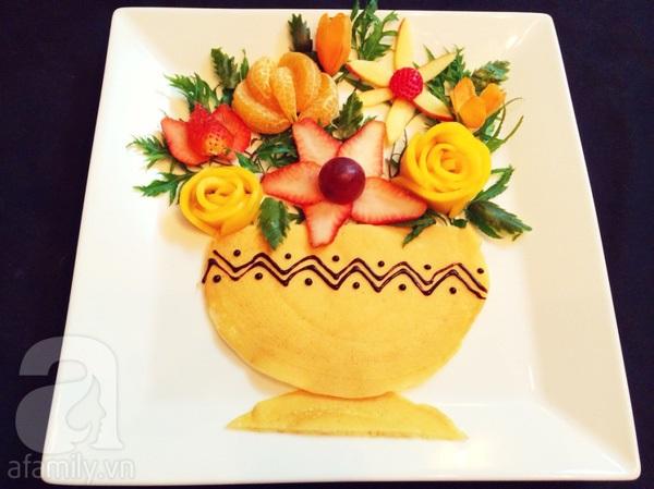 Cách bày hoa quả đẹp, đa sắc màu