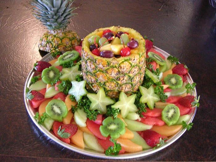 Cách bày hoa quả đẹp trên đĩa