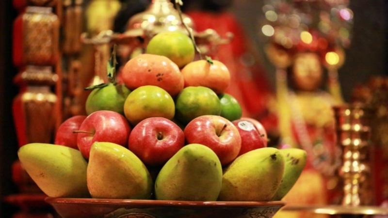 bày hoa quả thắp hương đúng cách