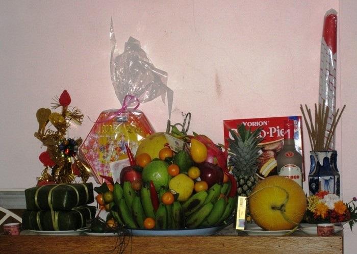 Cách bày mâm hoa quả trên bàn thờ ngày tết theo phong cách miền Trung