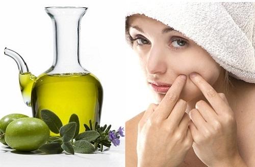 Da sạch mụn nhanh chóng khi chăm sóc da mặt bằng dầu oliu tại nhà