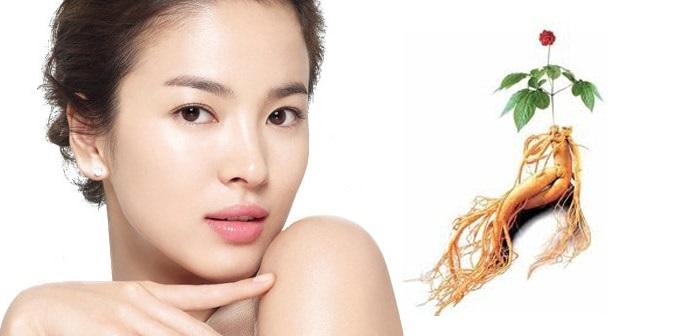 Chăm sóc da mặt hàng ngày với các sản phẩm từ nhân sâm, dưỡng da đẹp mịn màng