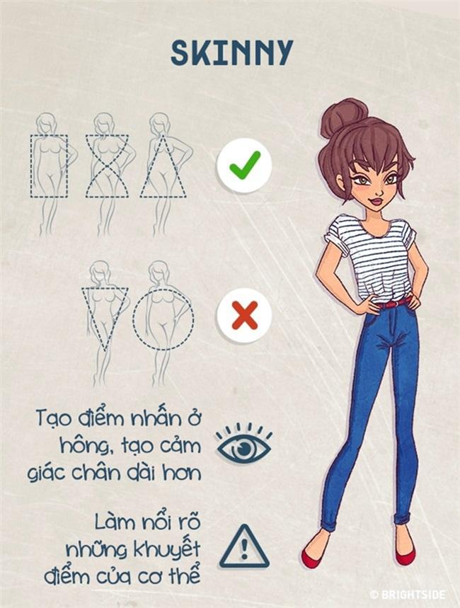 Biết được cách này thì dù bạn mập ốm cỡ nào vẫn chọn được kiểu quần jeans 'chuẩn không cần chỉnh' - Ảnh 2