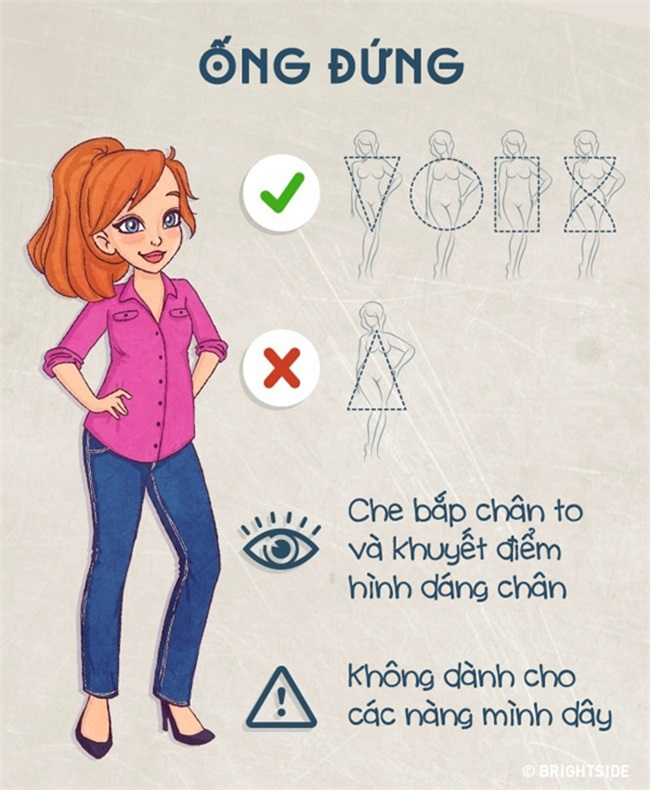 Biết được cách này thì dù bạn mập ốm cỡ nào vẫn chọn được kiểu quần jeans 'chuẩn không cần chỉnh' - Ảnh 8