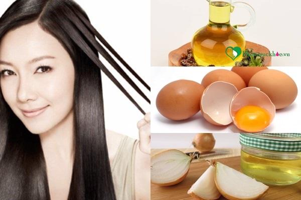 Dùng phương pháp dân gian trị rụng tóc từ hành tây, trứng, thầu dầu