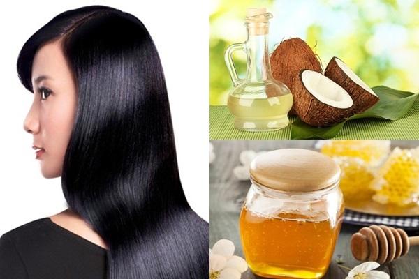 Chữa rụng tóc bằng dầu dừa và mật ong nguyên chất