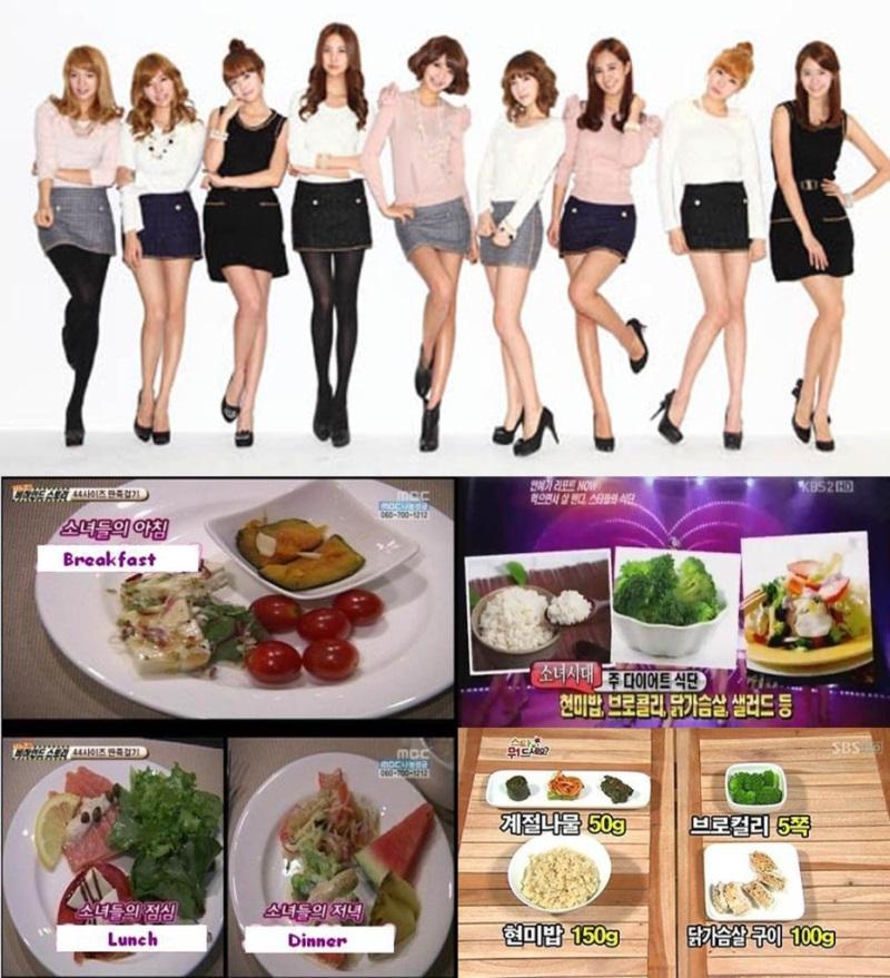 Thực đơn ăn 1500 calo mỗi ngày giúp các cô gái SNSD giảm cân và giữ dáng nhanh chóng