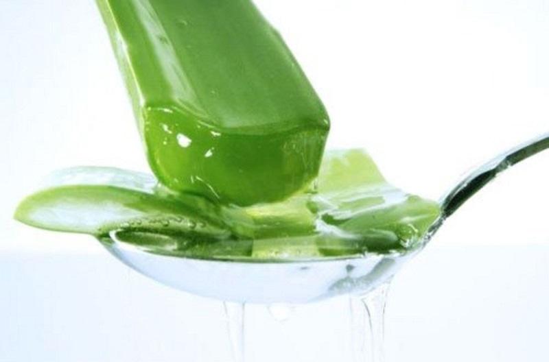 Sử dụng nha đam tươi để có nhiều dưỡng chất bổ sung cho da.
