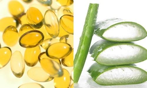 Kết hợp nha đam với công thức dưỡng trắng da bằng vitamin E