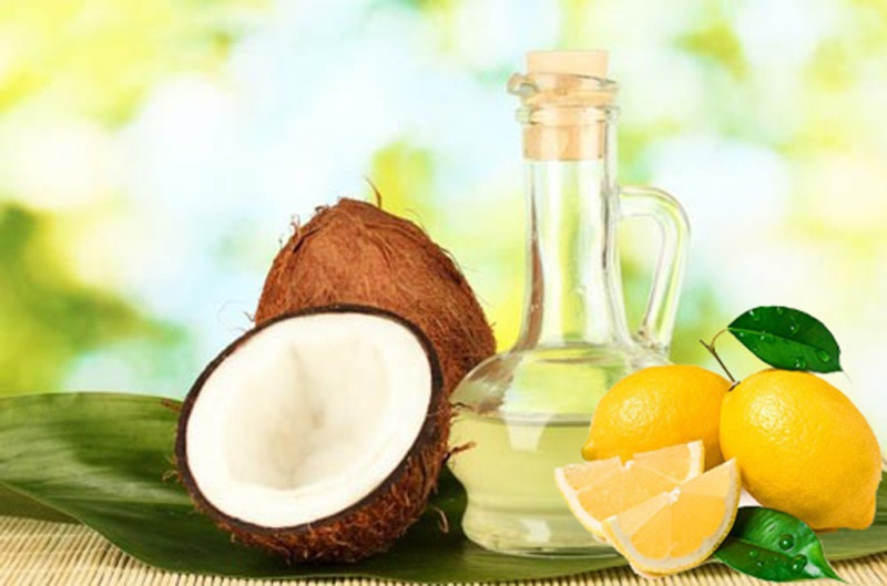 Cách làm đẹp da mặt bằng dầu dừa và chanh tươi