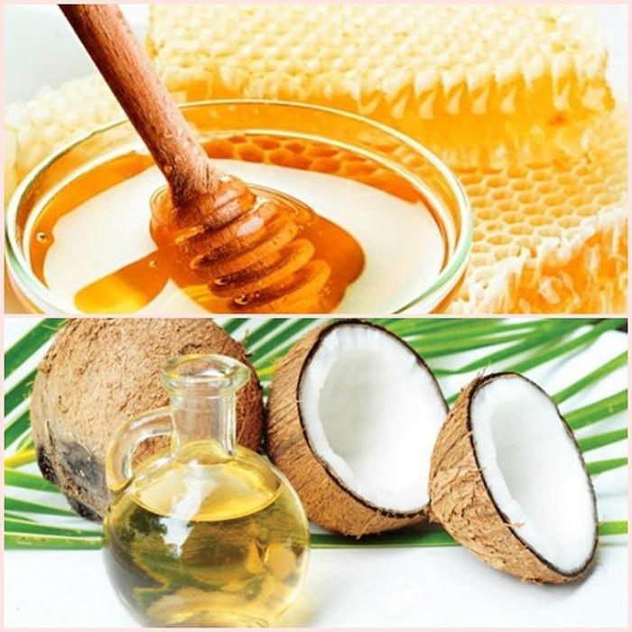 Cách làm đẹp da mặt bằng dầu dừa kết hợp với mật ong và lòng trắng trứng giúp da mịn màng, xóa mờ thâm nám