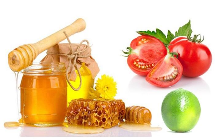 Mặt nạ mật ong, cà chua và chanh làm đẹp da mặt sau sinh tuyệt vời.
