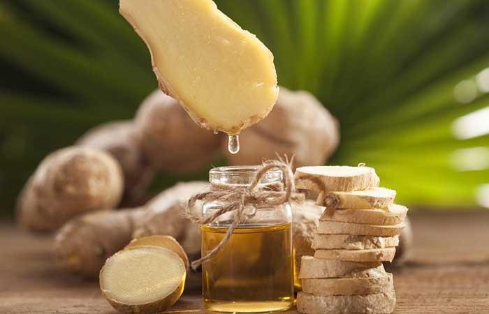 Dầu olive và gừng giúp trị gàu, kích thích mọc tóc khỏe mạnh, suôn dày