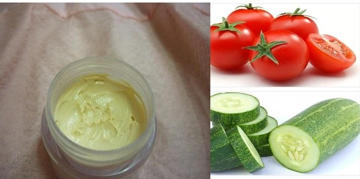 Dùng cà chua và dưa leo làm kem trộn trị mụn an toàn và hiệu quả
