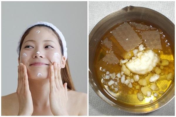 Làm kem trộn dưỡng da bằng sáp ong đơn giản mà công hiệu như ý