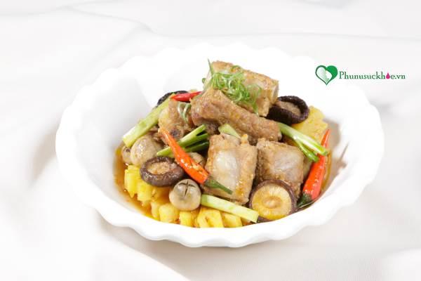 Bữa cơm ngon miệng với cách làm món sườn kho nấm - Ảnh 3