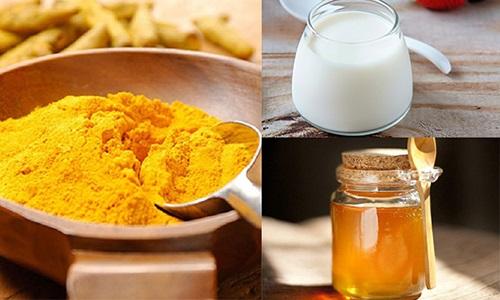 Những nguyên liệu làm sữa nghệ vàng đều dễ tìm và chuẩn bị