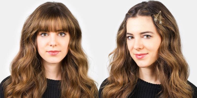 Ghim tóc là cách làm tóc mái dài nhanh