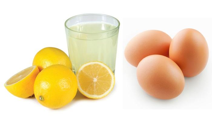 Cách trị mụn làm trắng da hiệu quả tại nhà bằng chanh và trứng gà