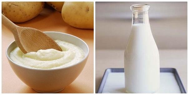 Cách làm trắng da trị mụn tại nhà bằng khoai tây