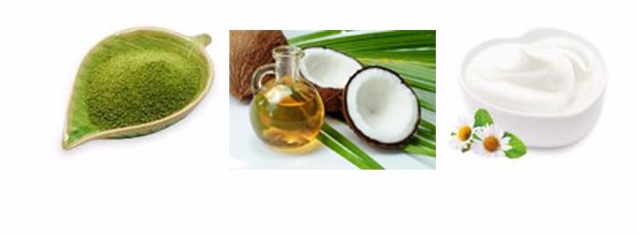 Cách làm trắng da mặt bằng bột trà xanh dành cho da khô.