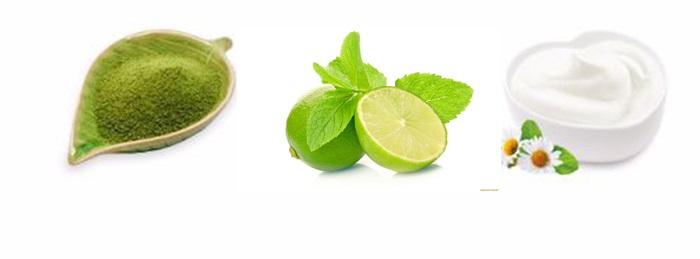 Cách làm trắng da mặt bằng bột trà xanh cho da nhờn