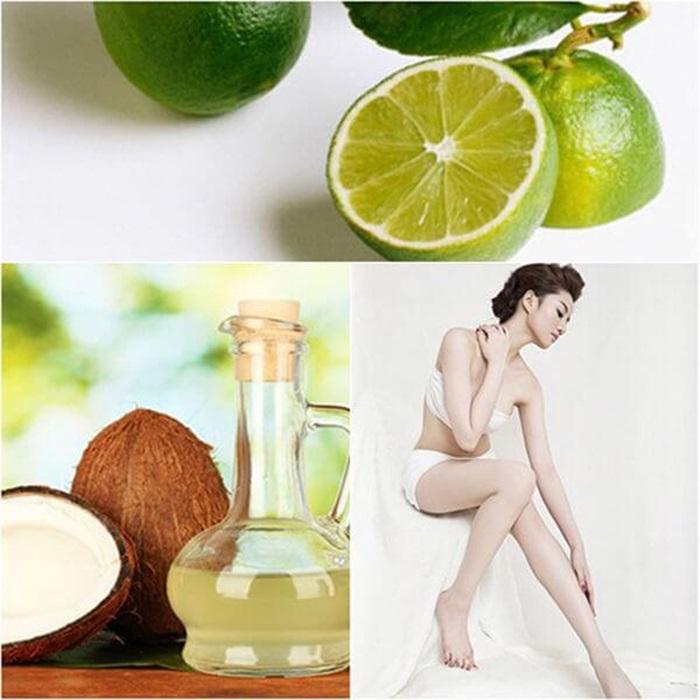 Cách làm trắng da mặt bằng dầu dừa và nước cốt chanh tươi
