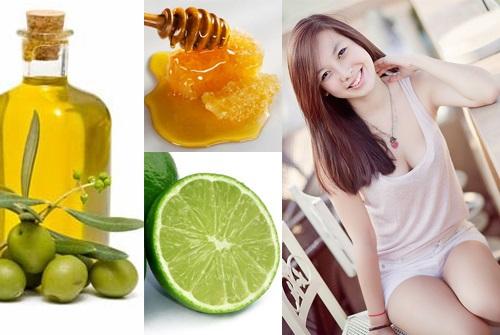 Dưỡng trắng da mặt hiệu quả từ dầu oliu và chanh