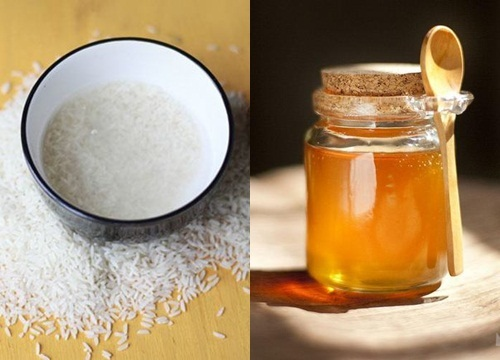 Nước vo gạo và mật ong là hỗn hợp dưỡng trắng da mặt công hiệu