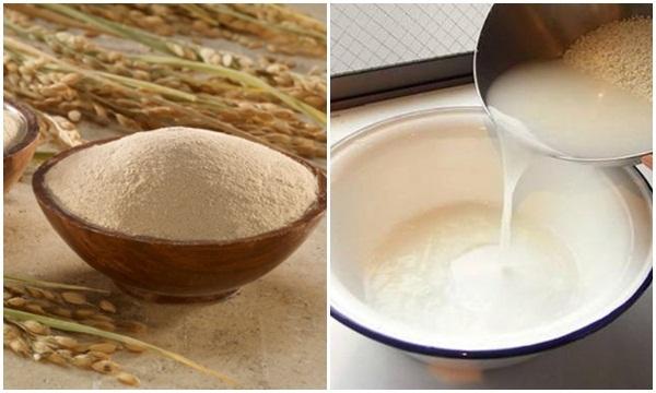 Cách làm trắng da mặt hiệu quả bằng nước vo gạo và cám gạo
