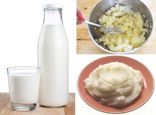 Cách làm trắng da mặt cấp tốc tại nhà với khoai tây và sữa tươi