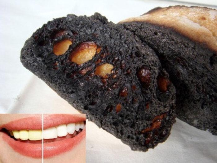 Bánh mì nướng cháy có tác dụng làm trắng răng hiệu quả.