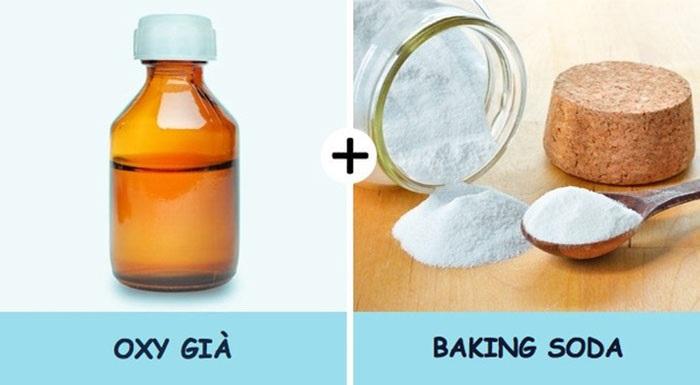 Oxy già kết hợp baking soda làm trắng răng rất tốt. Ả
