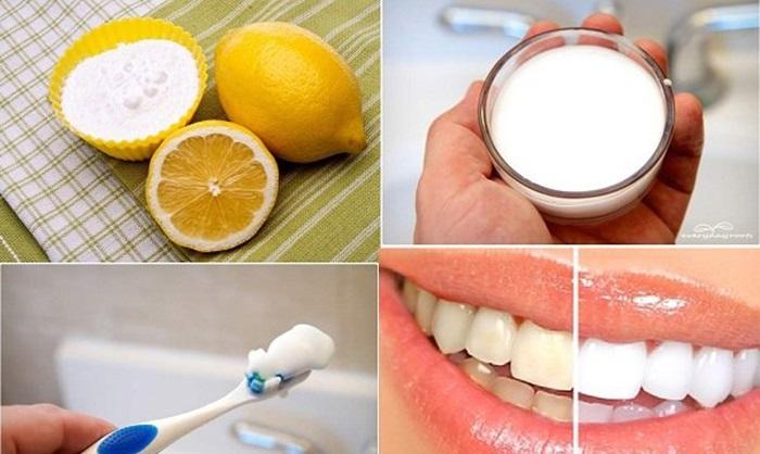 Cách làm trắng răng nhanh bằng Baking soda và nước cốt chanh