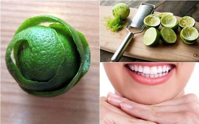 Vỏ chanh có tác dụng làm trắng răng thơm miệng.