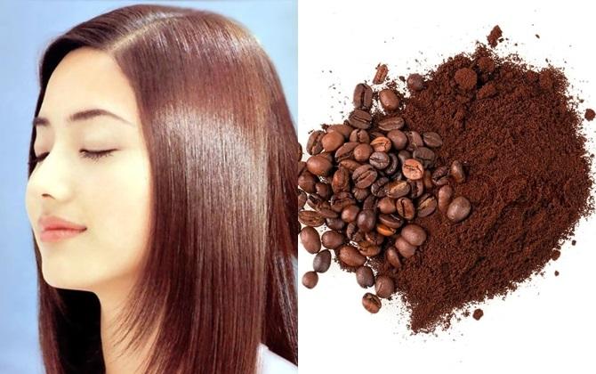 Cà phê nguyên liệu dùng để nhuộm màu hạt dẻ.