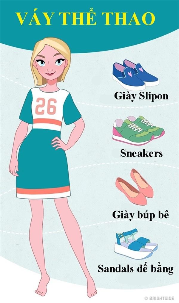 Mách bạn cách chọn giày phù hợp cho từng kiểu váy