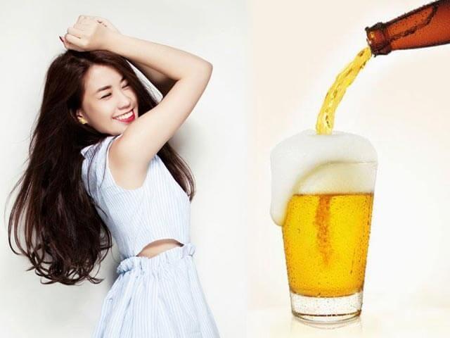 Cách tắm trắng bằng bia mang lại làn da đẹp