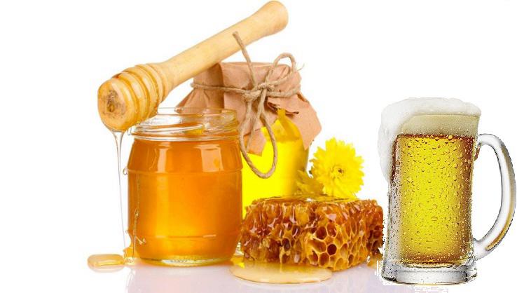 Bia và mật ong giúp da trắng hồng và cung cấp đủ độ ẩm cho da.