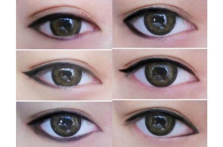 Trang điểm viền mắt dưới cho mắt một mí nên chọn tông màu sáng